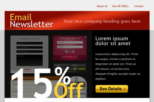 Free Email Template Psd Lovely HTML Email Template Psd File