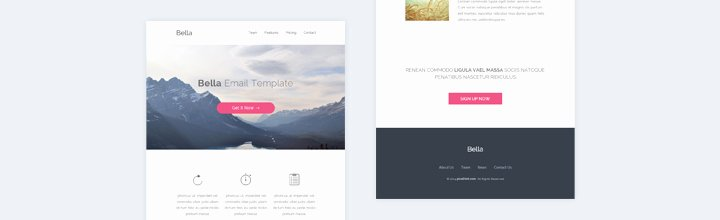Free Email Template Psd Luxury Bella Free Psd and HTML Email Template