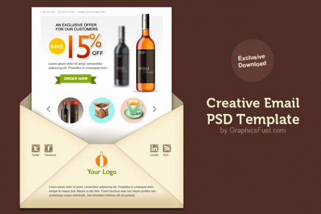 Free Email Template Psd Luxury Creative Email Newsletter Psd Template Psd File