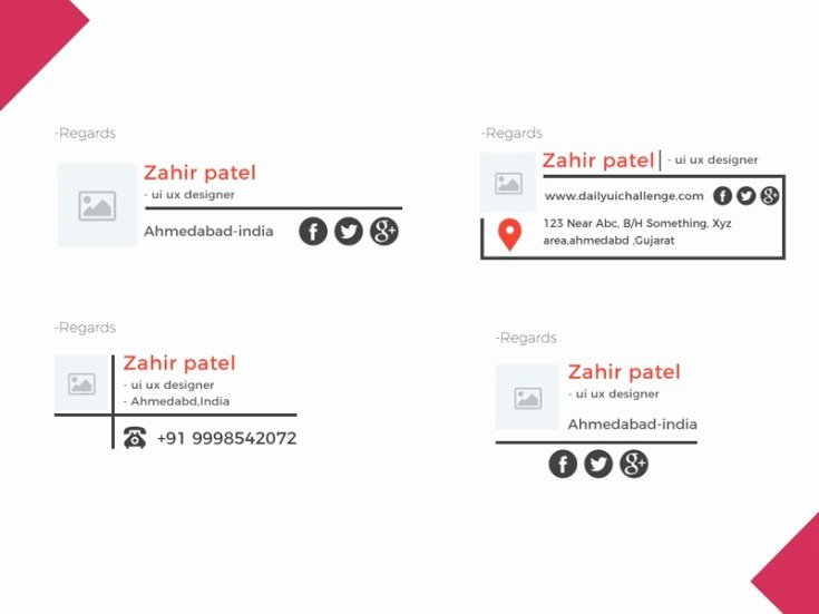 free email signature psd template