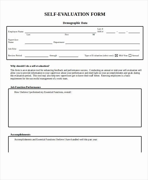 Free Employee Evaluation form Template Elegant Employee Evaluation form Example 13 Free Word Pdf