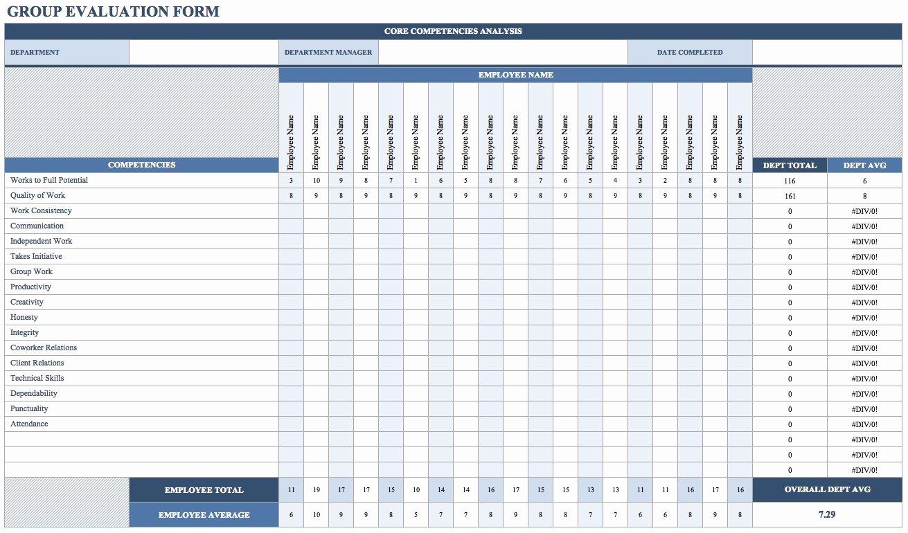 Free Employee Evaluation form Template Elegant Free Employee Performance Review Templates Smartsheet