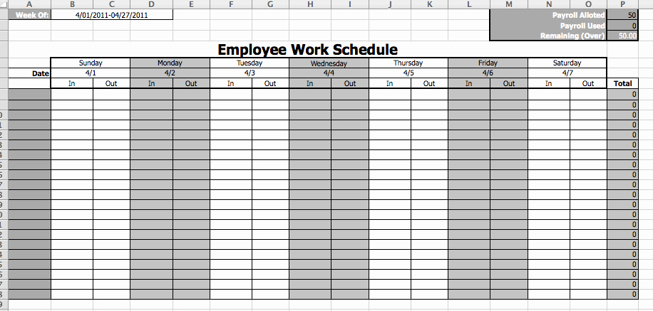 Free Employee Schedule Template Best Of Staffing Schedule Template