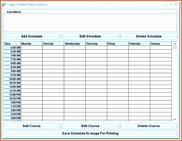 Free Employee Schedule Template New 6 Microsoft Excel Employee Schedule Template