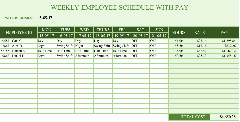 Free Employee Scheduling Template Awesome Trying to Better Scheduling Your Employees In 2017 Latest