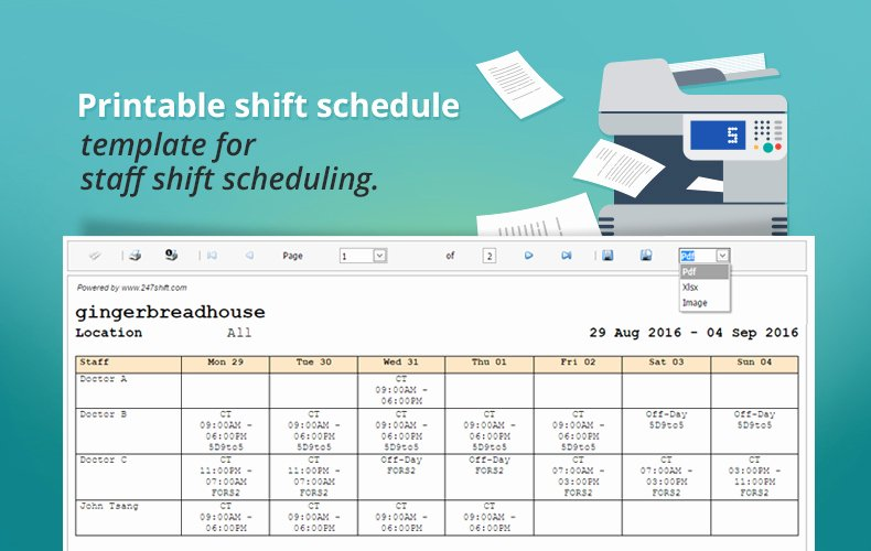 Free Employee Scheduling Template Lovely Printable Shift Schedule Template for Staff Shift