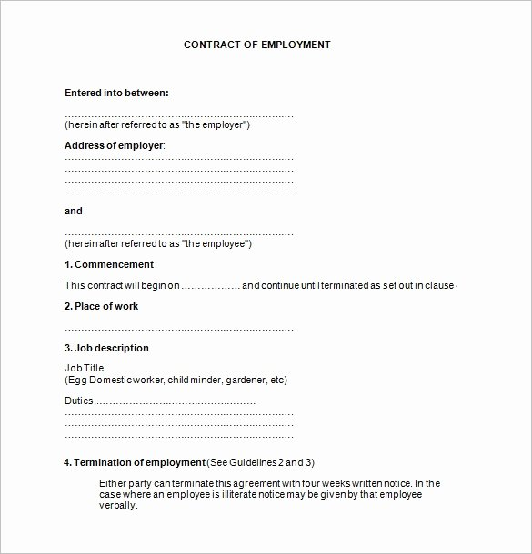 Free Employment Contract Template Word Awesome 18 Job Contract Templates Word Pages Docs