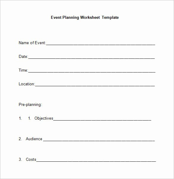 Free event Plan Template Luxury event Planning Worksheets Kidz Activities