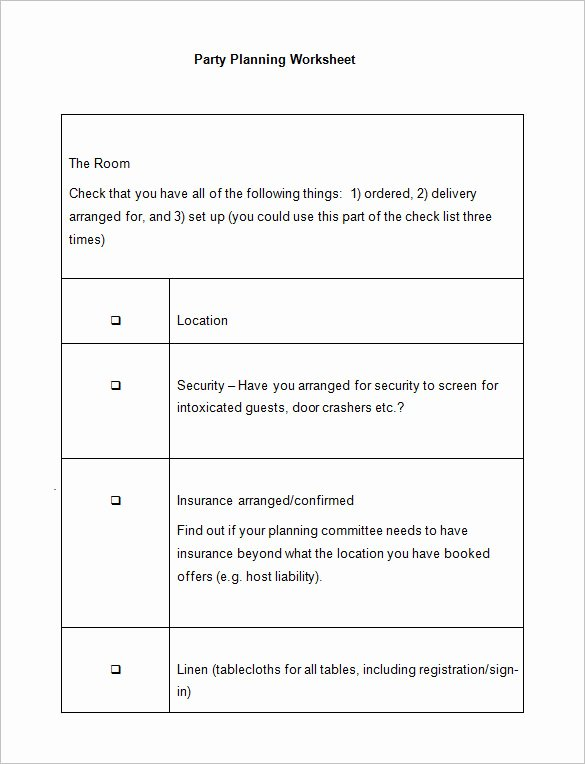 Free event Planning Template Elegant 5 event Planning Worksheet Templates – Free Word