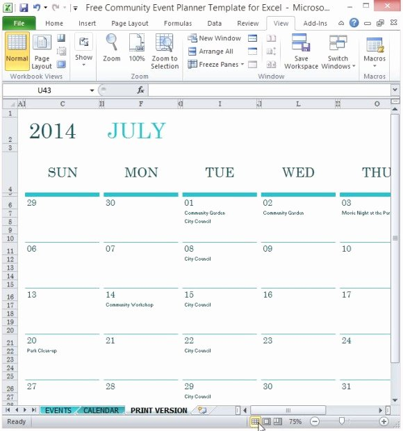 Free event Planning Template Elegant Free Munity event Planner Template for Excel