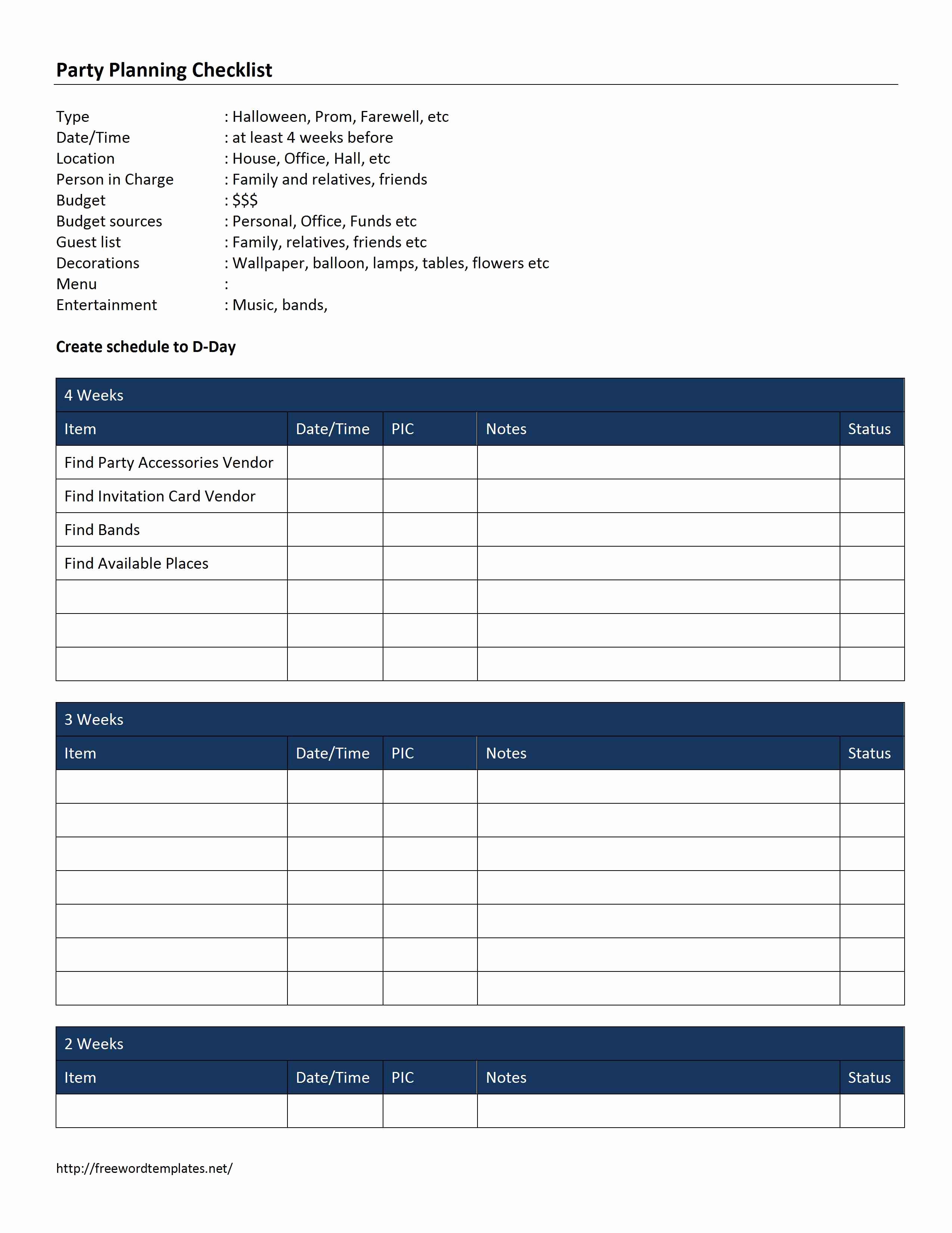 Free event Planning Template Fresh Checklist Word Templates Free Word Templates