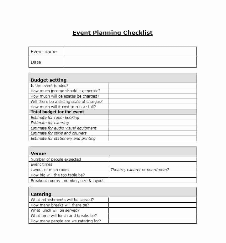Free event Planning Template Inspirational 50 Professional event Planning Checklist Templates