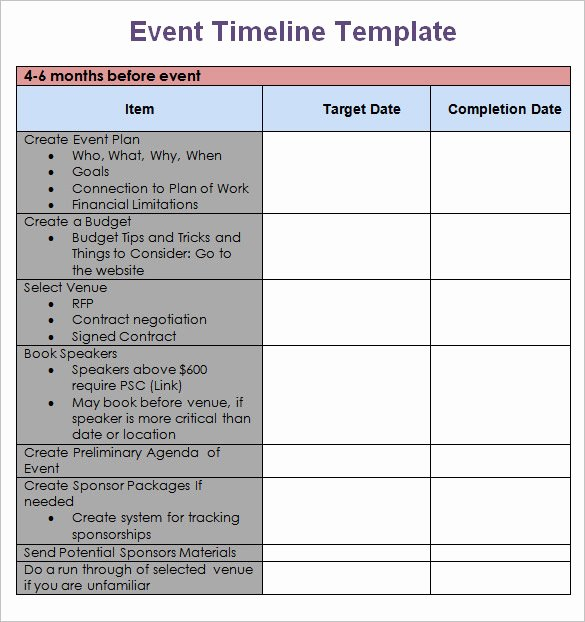Free event Planning Template Luxury Meeting Planning Timeline Template Templates Resume