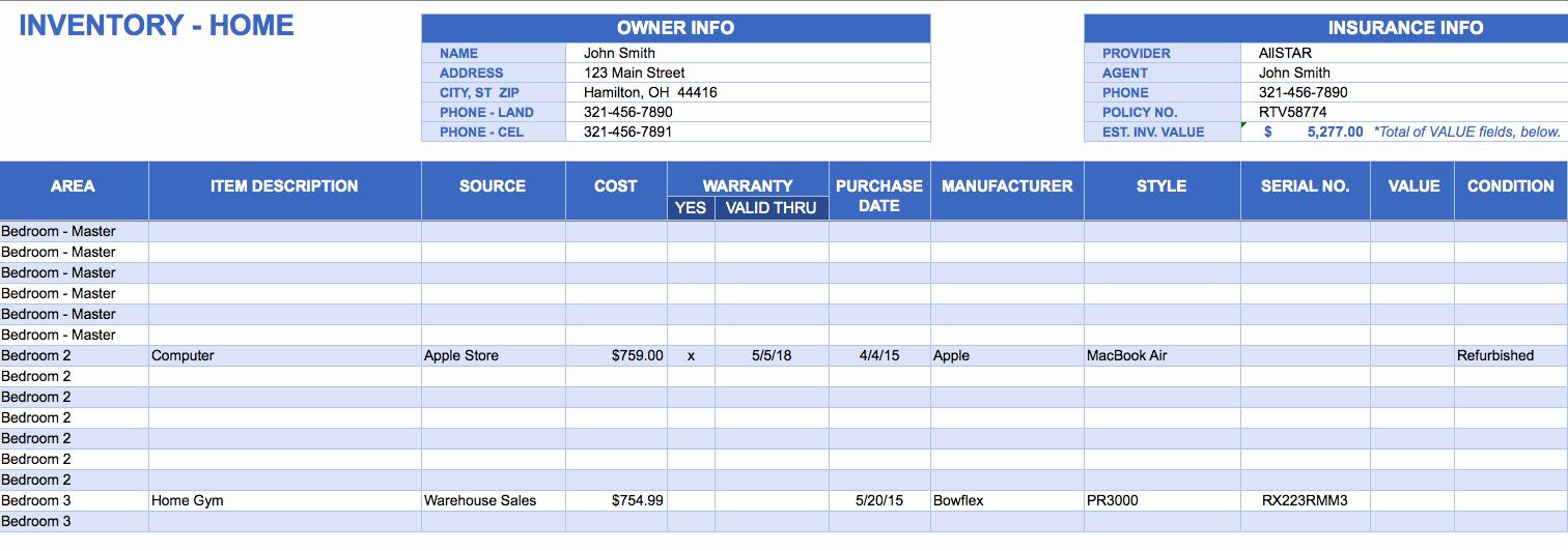 Free Excel Inventory Template Elegant Free Excel Inventory Templates