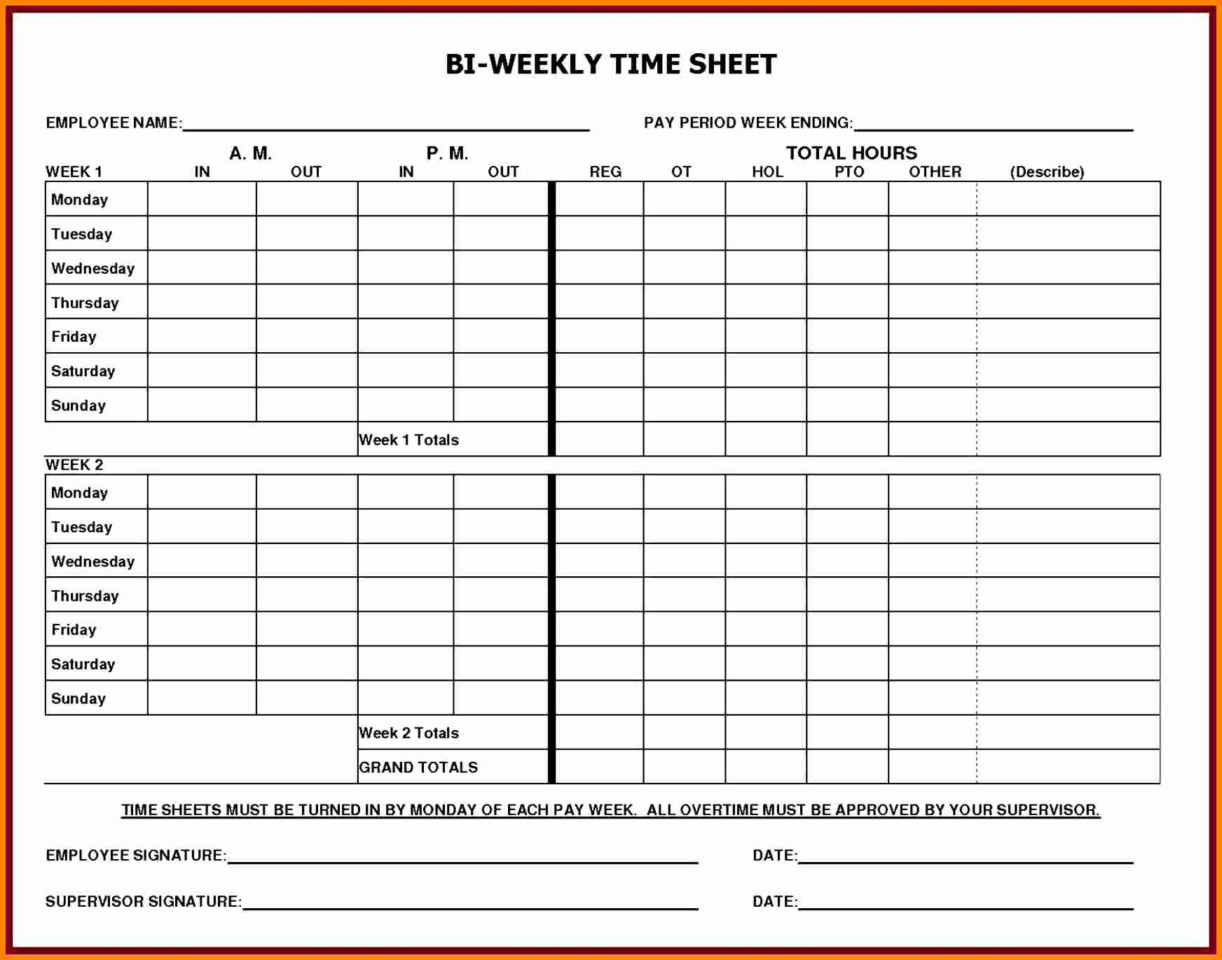 Free Excel Payroll Template Elegant 5 Printable Payroll Sheets