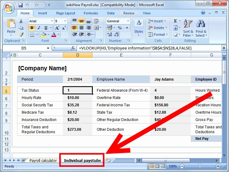 Free Excel Payroll Template Elegant How to Prepare Payroll In Excel Wikihow