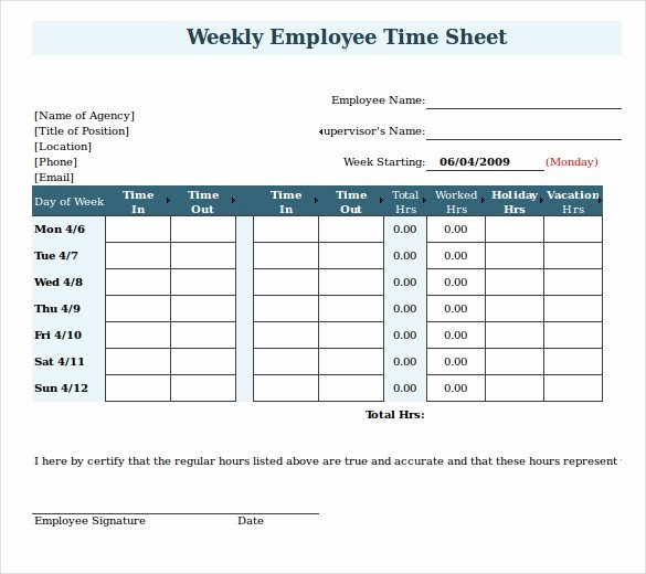 Free Excel Payroll Template Fresh 20 Payroll Timesheet Templates & Samples Doc Pdf