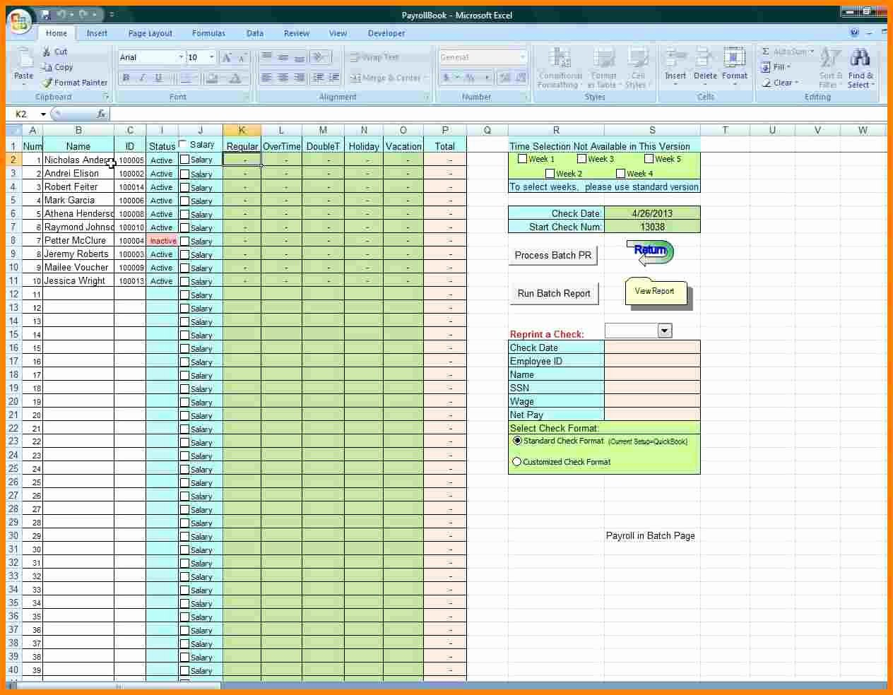 Free Excel Payroll Template Fresh 5 Free Payroll Excel Template