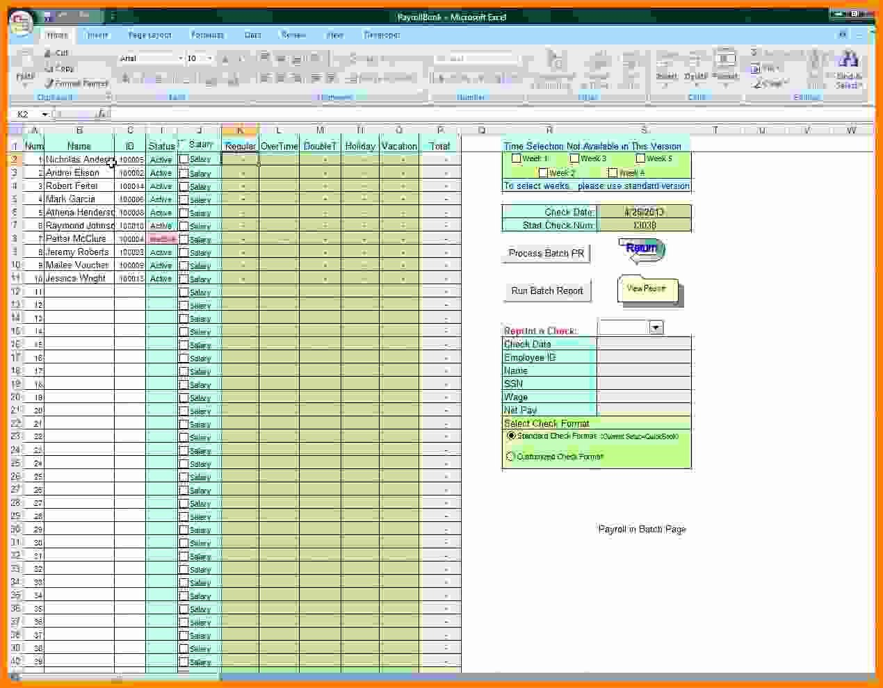Free Excel Payroll Template Fresh 6 Free Payroll Excel Template