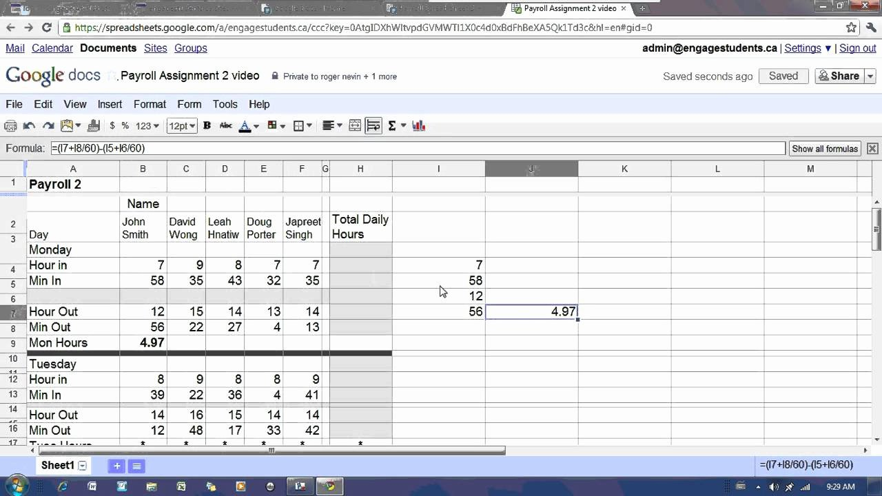 Free Excel Payroll Template Fresh Payroll Excel Spreadsheet Free Download Spreadsheet
