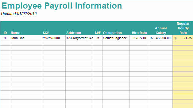 Free Excel Payroll Template Luxury 10 Useful & Free Payroll Templates