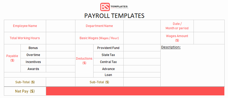 Free Excel Payroll Template New Payroll Template – Free Employee Payroll Calculator for