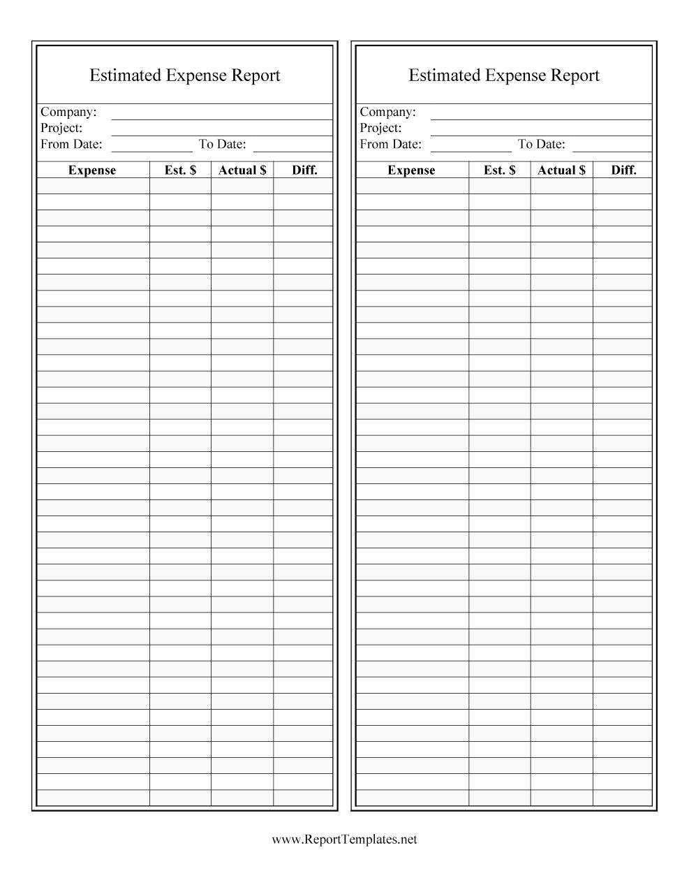 Free Expense Report Template Beautiful 40 Expense Report Templates to Help You Save Money