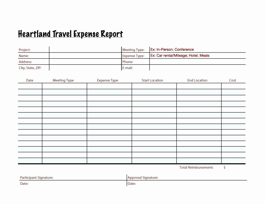 Free Expense Report Template Inspirational 40 Expense Report Templates to Help You Save Money