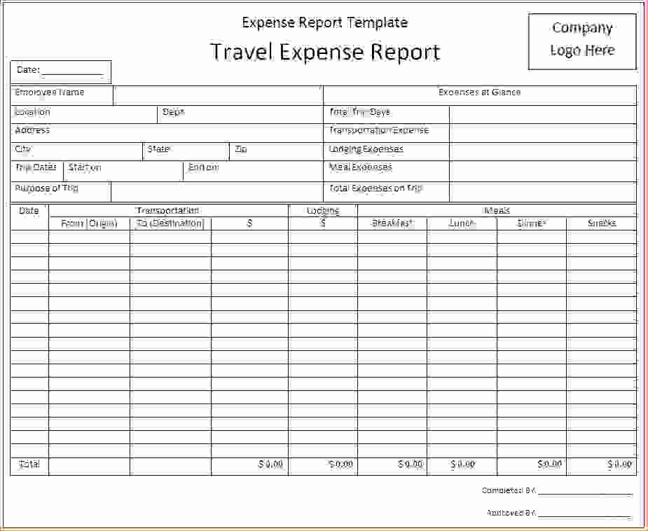 Free Expense Report Template Inspirational Free Expense Report form Sample to Track Pany Expenses