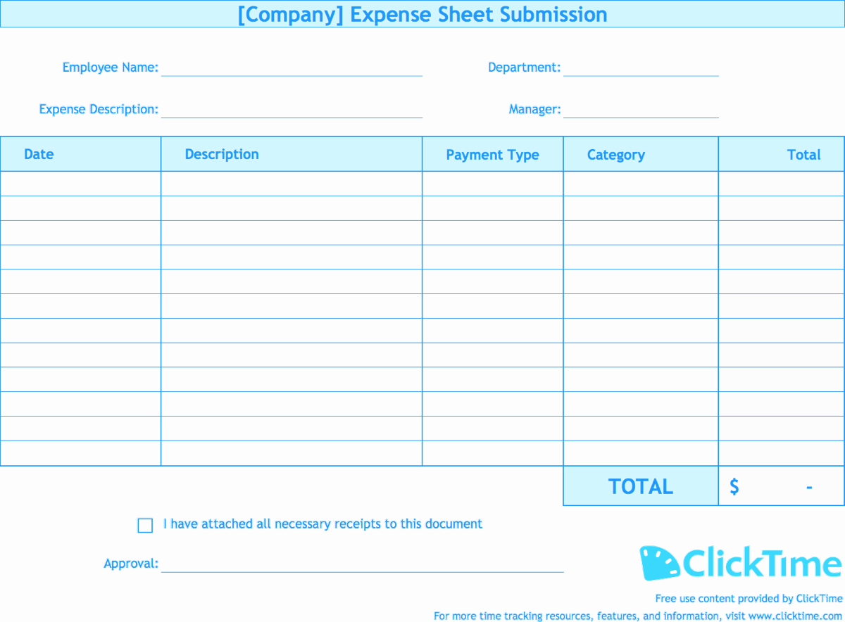 Free Expense Report Template Luxury Expense Report Template