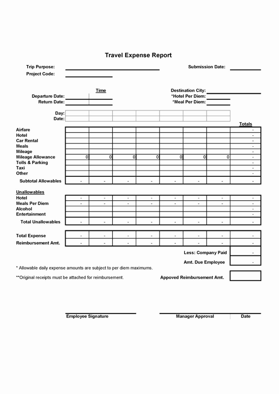 Free Expense Report Template New 40 Expense Report Templates to Help You Save Money