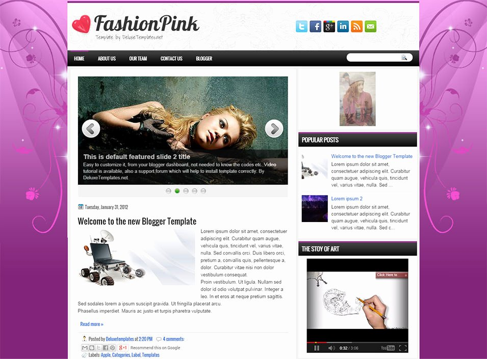 Free Fashion Blogger Template Best Of Fashion Blog Website Templates & themes