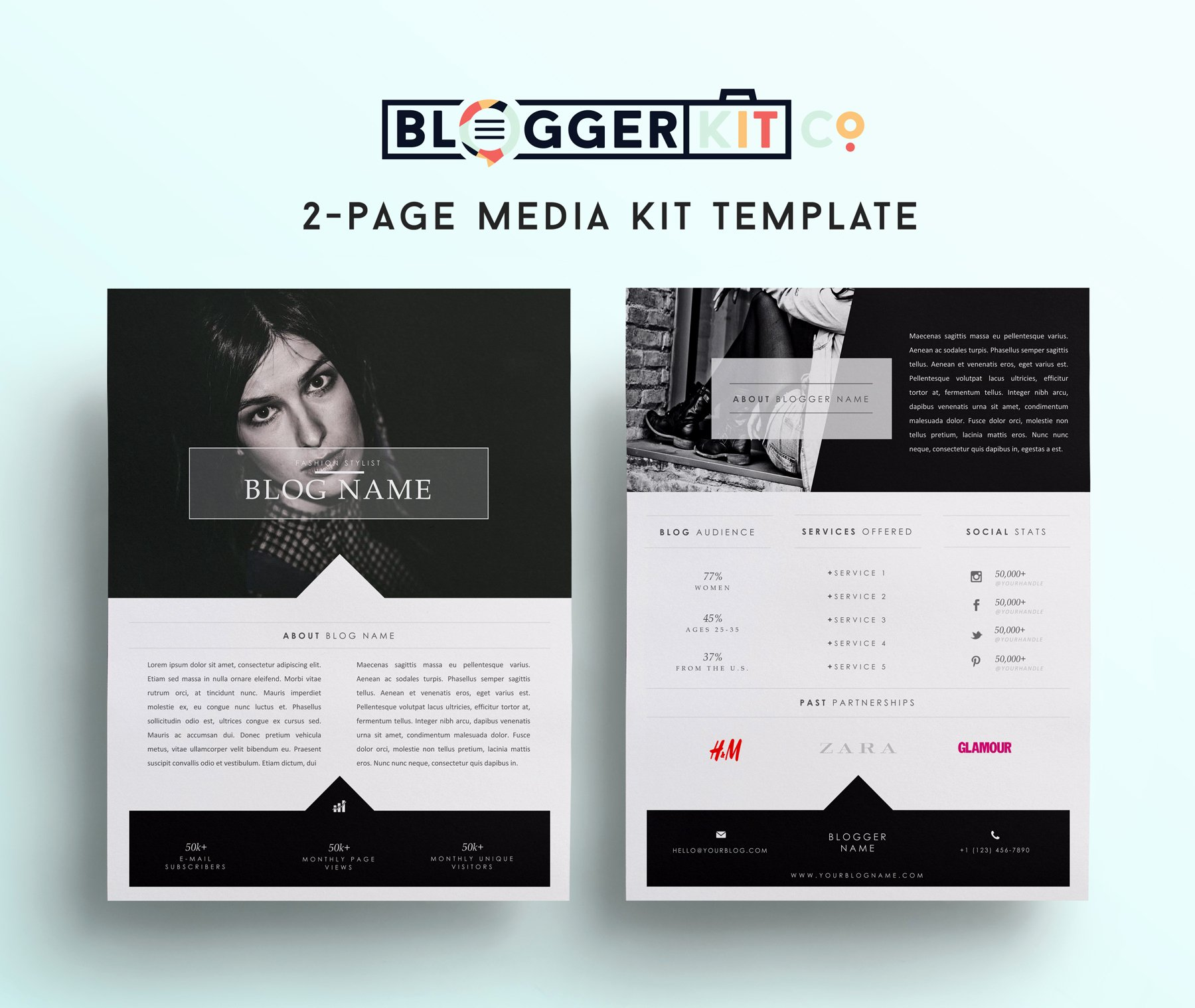 Free Fashion Blogger Template Best Of Fashion Blogger Media Kit Template