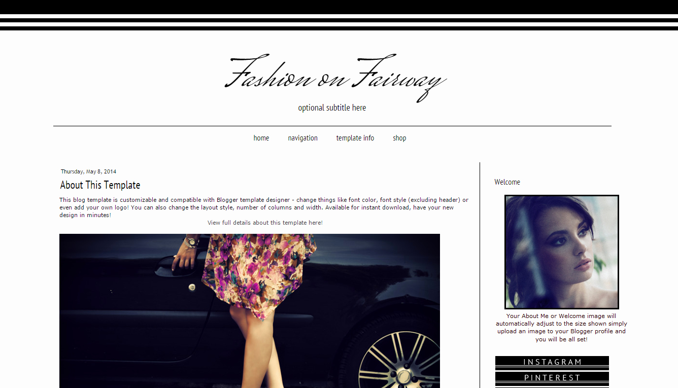 Free Fashion Blogger Template Best Of Modern Template Pink Chevron Design