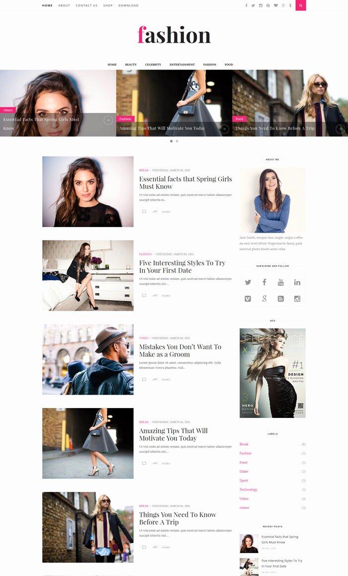 Free Fashion Blogger Template Elegant 17 Free Magazine Style Blogger Templates Designyep