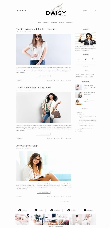 Free Fashion Blogger Template Fresh 50 Free Fashion Blogger Templates for Fashion Blogs