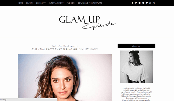 Free Fashion Blogger Template Fresh Free Glam Up Blogger Template Responsive