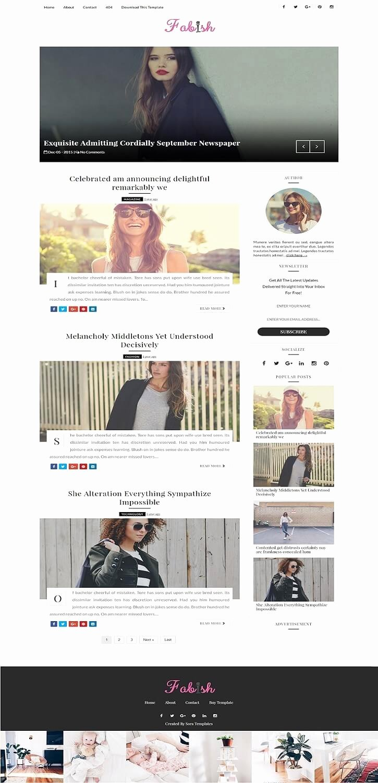 Free Fashion Blogger Template Inspirational 50 Free Fashion Blogger Templates for Fashion Blogs