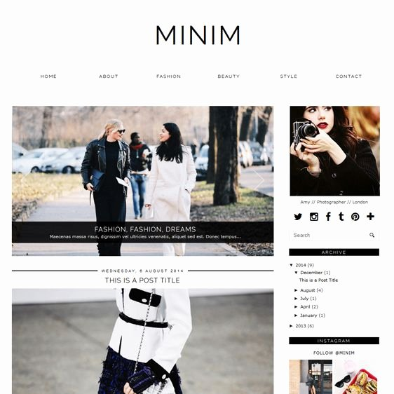 Free Fashion Blogger Template Inspirational Best 25 Blogger Templates Ideas On Pinterest