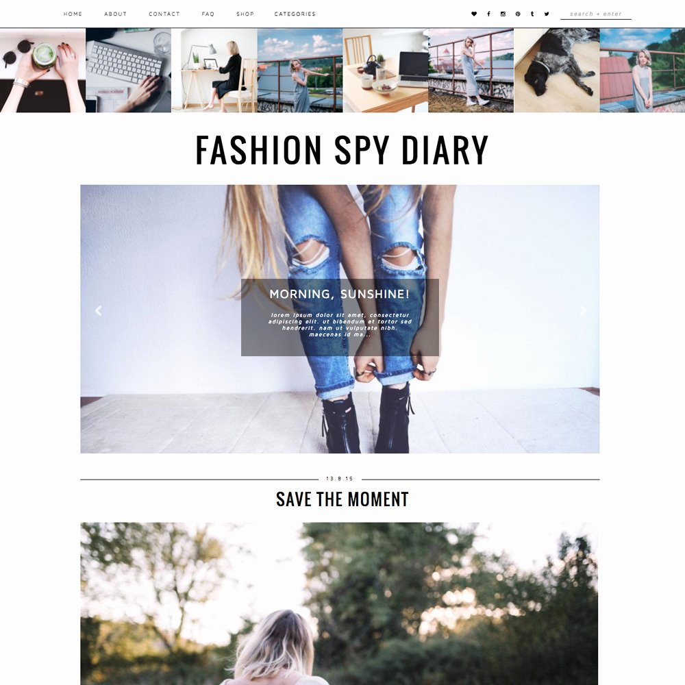 Free Fashion Blogger Template Lovely Blogger Template Fashion Spy