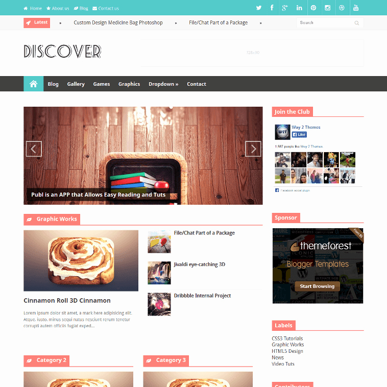Free Fashion Blogger Template Luxury Discover Magazine News Style Responsive Blogger