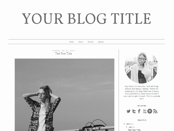 Free Fashion Blogger Template New Blogger Premade Template Design Fashion Note Web