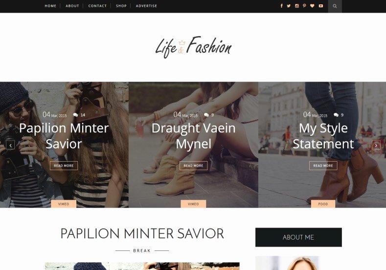 Free Fashion Blogger Template New Life Fashion Blogger Template • Templates 2018