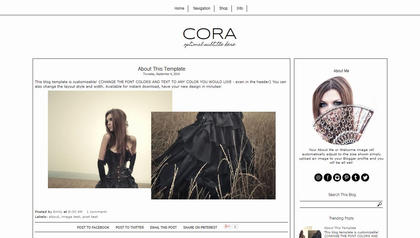 Free Fashion Blogger Template Unique Black and White Blogger Template Simple Blog Template