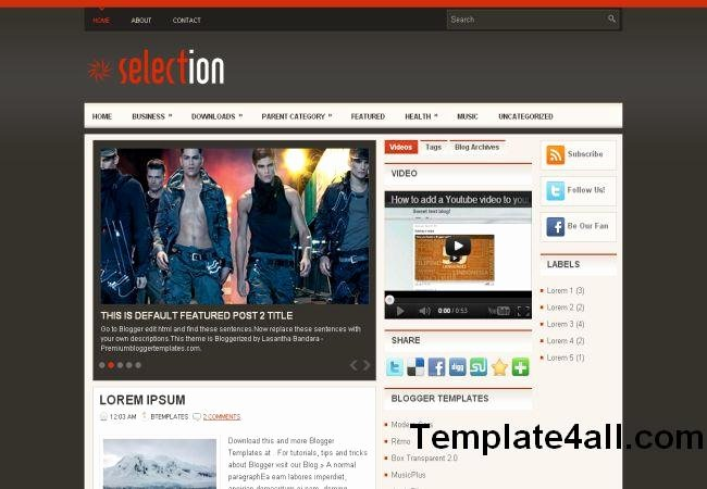 Free Fashion Blogger Template Unique Fashion Blogger Mag Layout Template