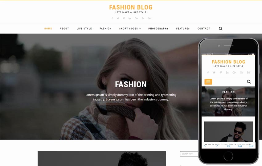 Free Fashion Blogger Template Unique Galleriya Free Protfolio Mobile Website Template by