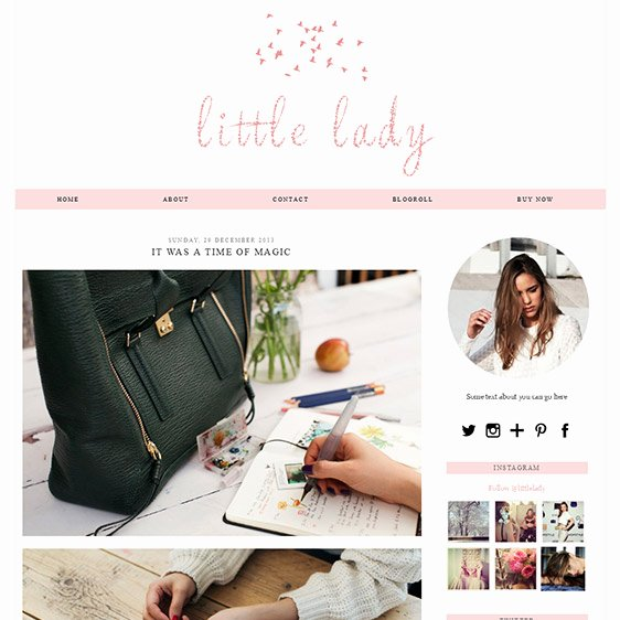 Free Fashion Blogger Template Unique Girly Blogger Template soft Pink Colour