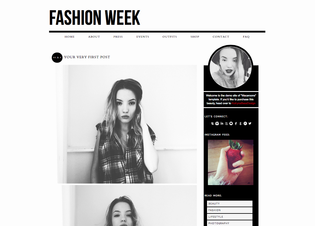 Free Fashion Blogger Template Unique Newest Premade Blogger and Wordpress themes