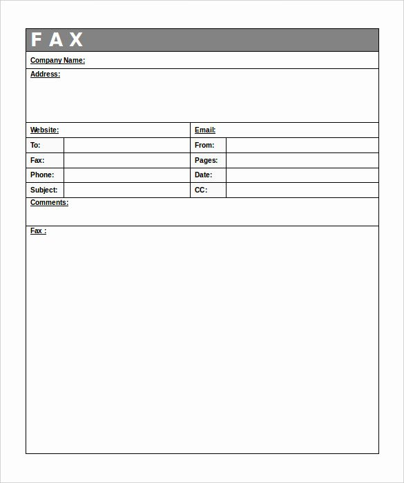 Free Fax Cover Page Template Awesome 12 Free Fax Cover Sheet Templates – Free Sample Example