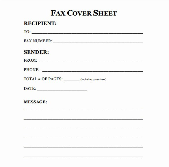 Free Fax Cover Page Template Beautiful 11 Sample Fax Cover Sheets